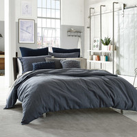 Kenneth Cole Reaction Home Douglas Reversible Duvet Cover in Blue Plaid