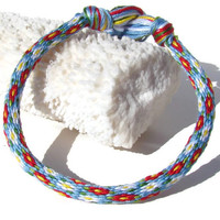 Cherish Collection-- 32 strand flower pattern friendship kumihimo with or without purchased magnetic clasp-- your choice