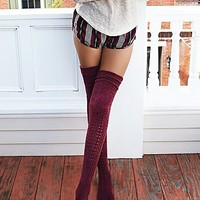 Free People Womens Blanket II Pointelle Sock