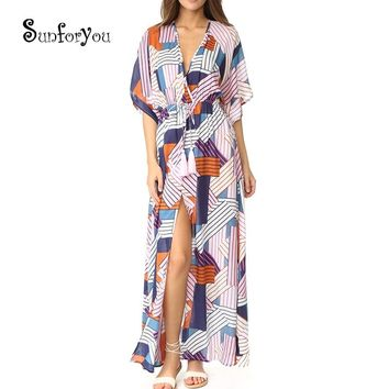 Dress for Beach 2018 Sarong Swim Cover up Pareo Bikini Cover up Pareo Beach Robe de Plage Bathing Suit Women Cover up Tunic