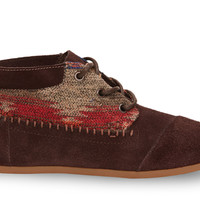 Chocolate Wool Suede Women's Tribal Boots