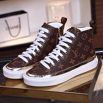 LV Louis Vuitton Women Boots Flats Shoes