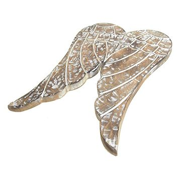 Angel Wing Wooden Decor Christmas Ornament, 16-Inch
