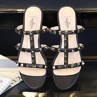 Valentino Women Fashion Slipper Sandals Shoes