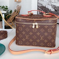 LV retro women's personalized cosmetic bag shoulder bag