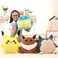 Anime Pikachu Pillow Cushion With Blanket In It Multi Patterns