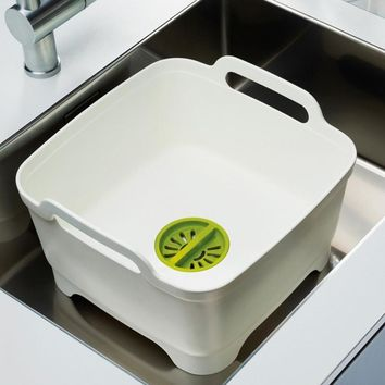 Multi-functioned Kitchen Rack Storage Bowls And Dishes Brush [6284140358]