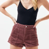 Pink Corduroy Mom Shorts | PacSun