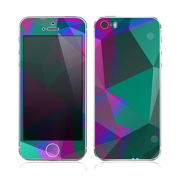 The Raised Colorful Geometric Pattern V6 Skin for the Apple iPhone 5s