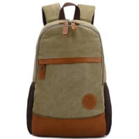 Vintage Large Canvas College Backpack School Bag Travel Daypack