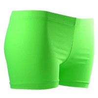 GemGear Neon Lime Volleyball Spandex Shorts - SIZE: XS