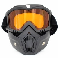 2017 New Cycling Face Mask Winter Sports Ski Snowboard Eyewear Wind Stopper Face Mask Bicycle Motorcycle Goggles Bike Glasses