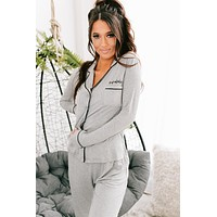 Cozy NanaBabe Pajama Set (Heather Grey)