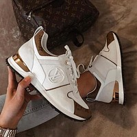 Louis Vuitton LV ladies sneakers new fashion men's letter logo printing casual sports shoes
