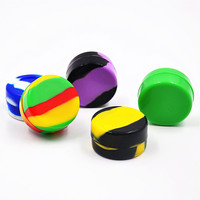 1pc 8ML Pill Box Wax Dry Herb Silicone Jars Silicone Container Wax 3.8CM Silicone Jars Smoking Accessaries