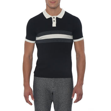 Contrast Color Block Killy Knit Polo