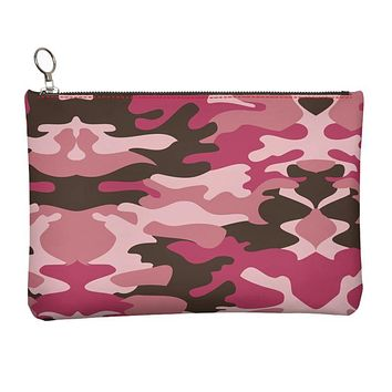 Pink Camouflage Leather Clutch Bag by The Photo Access