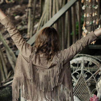 Cowgirl Dreams Tassel Jacket Taupe | Spell & the Gypsy Collective