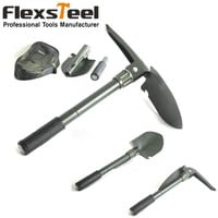 """Portable 16"""" Military Camping Survival Folding Shovel with Pick Garden Tool Military Style Survival Shovel Pick"""