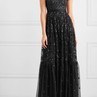 Needle & Thread - Clover sequined embroidered tulle gown