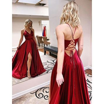 Sexy Prom Dress Lace Up Back, Dress For Junior and Senior Prom, Formal Dress, Evening Dress, Dance Dresses, Graduation Party Dress, DT0743