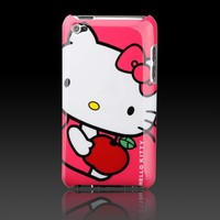 """Hello Kitty Apple Red """"Images"""" hard case cover for Apple iPod Touch 4 4G"""