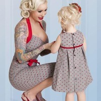 Bettie Page Clothing Lil Anchors Little Girl's Dress Kids Clothing at Broken Cherry