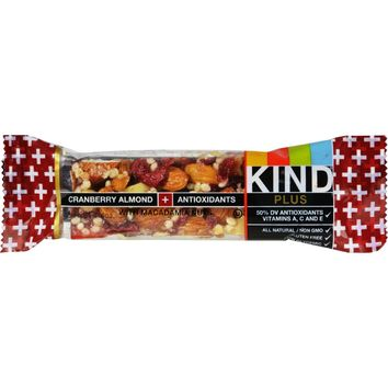KIND Bars - Cranberry Almond + Antioxidants - Gluten Free - 1.4 Ounce Bars - 12 Count