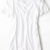AEO Women's Favorite V-neck T-shirt (White)