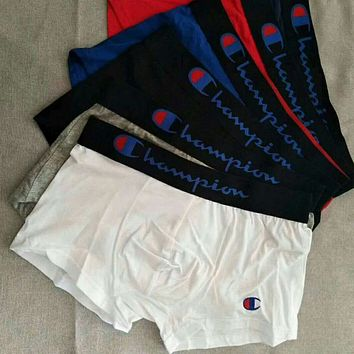 Champion 2018 new boxer briefs breathable and comfortable tide male boxer pants F0725-1