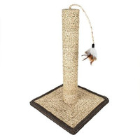 """18"""" Sisal Cat Scratching Post and Feather with Base"""