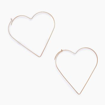 Kimber Heart Earrings - Gold