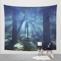 Magical Forest Wall Tapestry by Kristiana