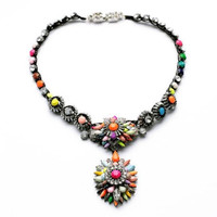 Crystal Pendant Statement Necklace