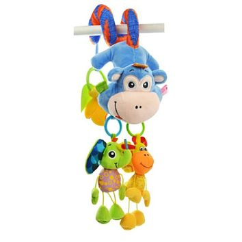Sozzy Plush Baby Toy Hanging Monkey for Crib or Stroller