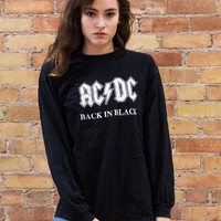 ACDC Back in Black Long Sleeve