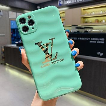 LV Louis Vuitton Phone Cover Case For iphone 7 7plus 8 8plus X XR XS MAX 11 Pro Max 12 Mini 12 Pro Max Green