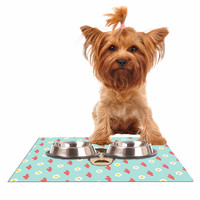 """Juan Paolo """"Give Me All Of The Bacon And Eggs"""" Parks & Recreation Dog Place Mat"""
