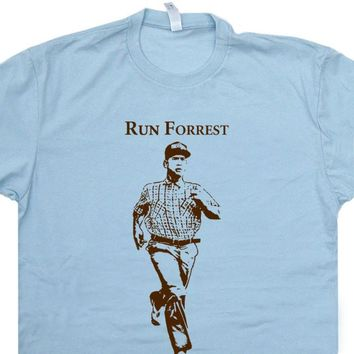 Run Forrest Gump Running T Shirt Funny Running T Shirt Saying Vintage Running Tee