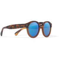 Illesteva - Leonard Round-Frame Acetate Mirrored Sunglasses | MR PORTER