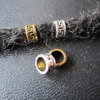 5PCS Ancient gold and silver Dreadlock beads dread Jewelry Making Accessories 5.5mm hole