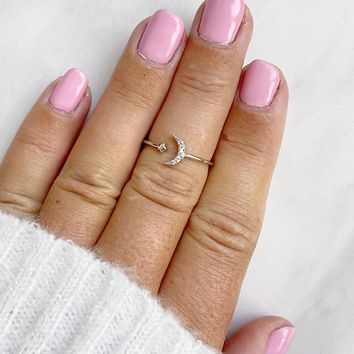 We Shine Together Silver Midi Ring