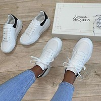 Alexander Mcqueen Casual Little White Shoes-23
