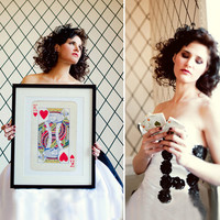 King and Queen Vintage Playing Cards Posters by petekdesign