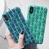 DIOR Fashion iPhone Phone Cover Case For iphone 6 6s 6plus 6s-plus 7 7plus 8 8plus iPhone X XR XS XS MAX