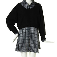 TEXTILE CHECK OVER Shirt - EMODA Global Online Store
