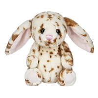 7 Inch Brown Spotted Plush Rabbit Stuffed Animal Floppy Bunny Animal Kingdom Collection
