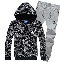Boys & Men Adidas Top Sweater Pullover Hoodie Pants Trousers Set Two-Piece Sportswear