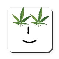 Pot Head Emote Cork Coaster> The Pot Head Emote> 420 Gear Stop