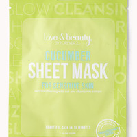 FOREVER 21 Cucumber Sheet Mask Green/White One